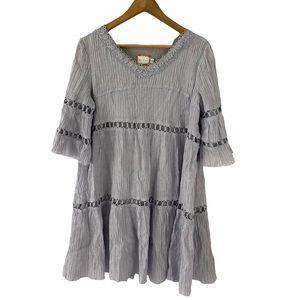 Eri + Ali Anthropologie Crinkled Babydoll Dress